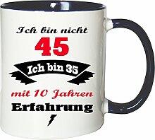 Mister Merchandise Becher Tasse Ich Bin Nicht 45