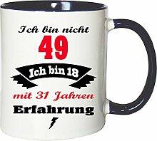 Mister Merchandise Becher Tasse Ich Bin Nicht 49