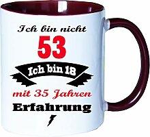Mister Merchandise Becher Tasse Ich Bin Nicht 53