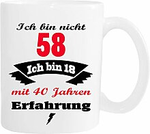 Mister Merchandise Becher Tasse Ich Bin Nicht 58