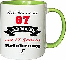 Mister Merchandise Becher Tasse Ich Bin Nicht 67