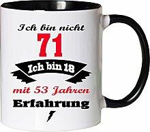 Mister Merchandise Becher Tasse Ich Bin Nicht 71