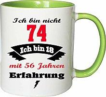 Mister Merchandise Becher Tasse Ich Bin Nicht 74