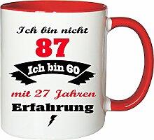 Mister Merchandise Becher Tasse Ich Bin Nicht 87