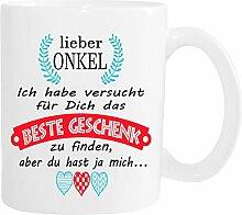 Mister Merchandise Becher Tasse Onkel Kaffee