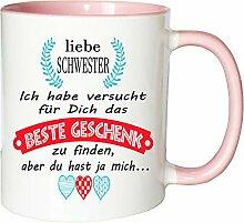 Mister Merchandise Becher Tasse Schwester Kaffee