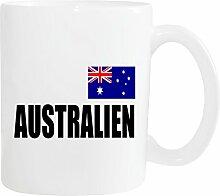 Mister Merchandise Kaffeetasse Australien Fahne