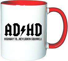 Mister Merchandise Kaffeetasse Becher ADHD ADHS