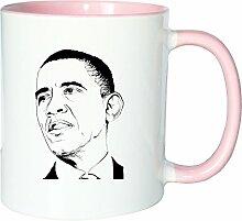 Mister Merchandise Kaffeetasse Becher Barack Obama