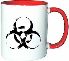 Mister Merchandise Kaffeetasse Becher Biohazard