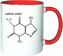 Mister Merchandise Kaffeetasse Becher Caffeine