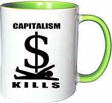 Mister Merchandise Kaffeetasse Becher Capitalism