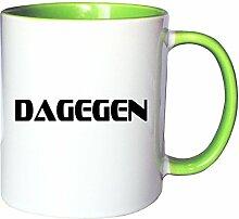Mister Merchandise Kaffeetasse Becher Dagegen