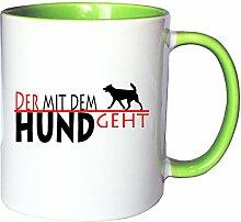Mister Merchandise Kaffeetasse Becher Der mit dem