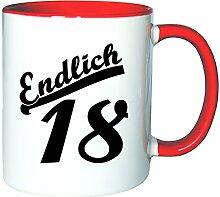 Mister Merchandise Kaffeetasse Becher Endlich 18