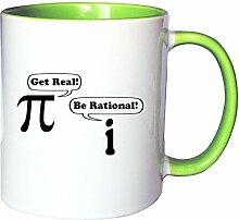 Mister Merchandise Kaffeetasse Becher Get real -