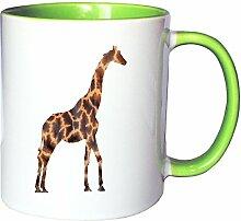 Mister Merchandise Kaffeetasse Becher Giraffe