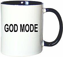 Mister Merchandise Kaffeetasse Becher God Mode