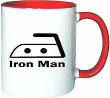 Mister Merchandise Kaffeetasse Becher Iron Man