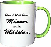 Mister Merchandise Kaffeetasse Becher Jungs Machen