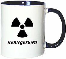 Mister Merchandise Kaffeetasse Becher Kerngesund