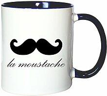 Mister Merchandise Kaffeetasse Becher La Moustache