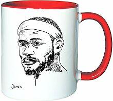 Mister Merchandise Kaffeetasse Becher Lebron James