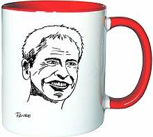 Mister Merchandise Kaffeetasse Becher Lucien Favre