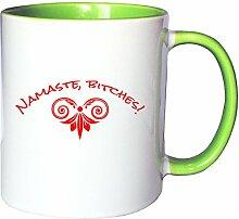 Mister Merchandise Kaffeetasse Becher Namaste