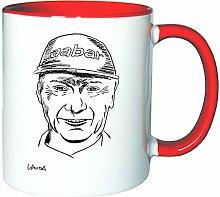 Mister Merchandise Kaffeetasse Becher Niki Lauda