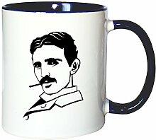 Mister Merchandise Kaffeetasse Becher Nikola Tesla
