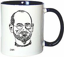 Mister Merchandise Kaffeetasse Becher Steve Jobs