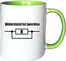 Mister Merchandise Kaffeetasse Becher Widerstand