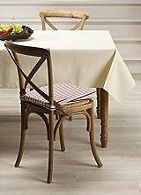 Mistral Home Tischdecke eckig abwaschbar wasserabweisend 4 Größen 5 Farben Teflon, Größe:90 x 90 cm, Farbe:Ivory