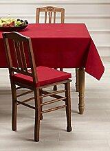 Mistral Home Tischdecke eckig abwaschbar wasserabweisend 4 Größen 5 Farben Teflon, Größe:138 x 240 cm, Farbe:Jester Red
