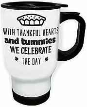 Mit Dankbaren Herzen Und Bäuchen Schwarz Weiß