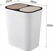 Mit Deckel Dual Mülleimer, klassifiziert Recycle