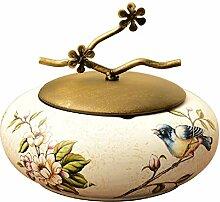 Mit Deckel Keramik Aschenbecher Wohnzimmer Retro