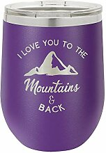 mit Gravur I love you to die Berge und Back 12Oz