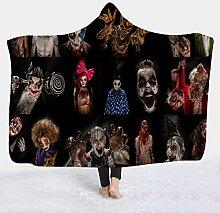 Mit Kapuze Decke Horror Decken, Lange Fleecedecke