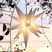 Mit LED Außenstern 65 cm weiß beleuchteter Stern