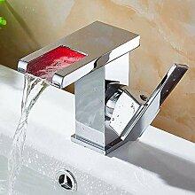 Mit Rgb 3 Farbewechsel Bad Waschbecken Wasserhahn,