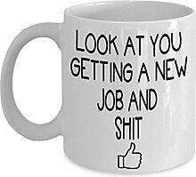 Mitarbeiter verlassen Kaffee-Haferl - Geschenkidee