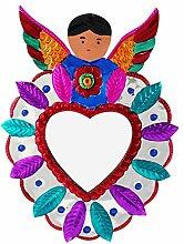 Mitienda Deko-Wandspiegel Herz mit Engel, Wanddeko