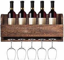 mitime Schwimmende Wein Regal und Glas Rack Set