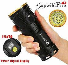 Mitlfuny Supwildfire 50000LM 15 x XM-L T6 LED