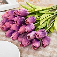 Mitlfuny Unechte Blumen,Tulpen Kunstblume Latex