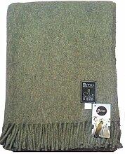 Mitos Natur MITOS Wolldecke Plaid Sofadecke grün light green mit Alpaka Wolle Schurwolle etc