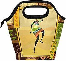 Mittagessen Tasche Afrikanisches Mädchen