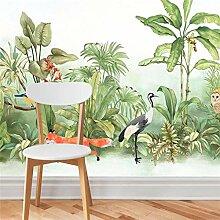 Mittelalter handgemalte tropische Regenwald